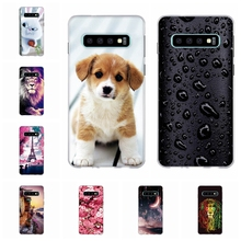 For Samsung Galaxy S10 Cover Soft TPU Silicone S 10 Case Romantic City Pattern Coque Bag