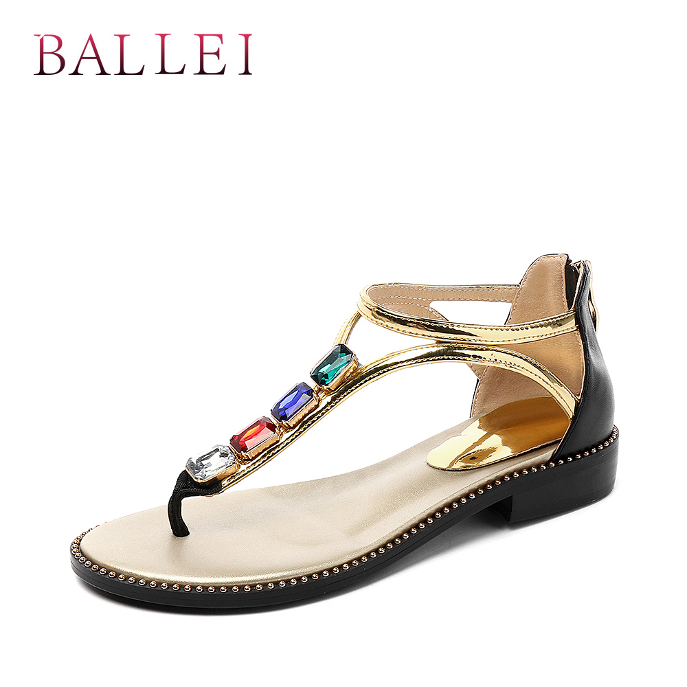 Balle High Quality Woman Sandals Vintage Genuine Leather Comfortable Low Heel Shoes Elegant Lady Ethnic Retro Casual Sandals S71 Back To Search Resultsshoes