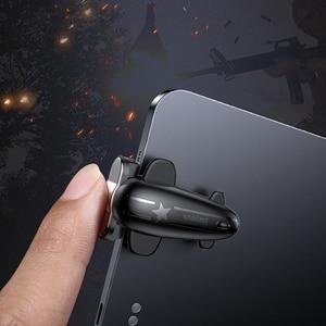Image 2 - Baseus 2PC sterowanie wyzwalaczem gier dla PUBG gry Shooter przycisk ognia strzelanie gra Joystick dla iPad Pro Xiaomi Huawei tablety