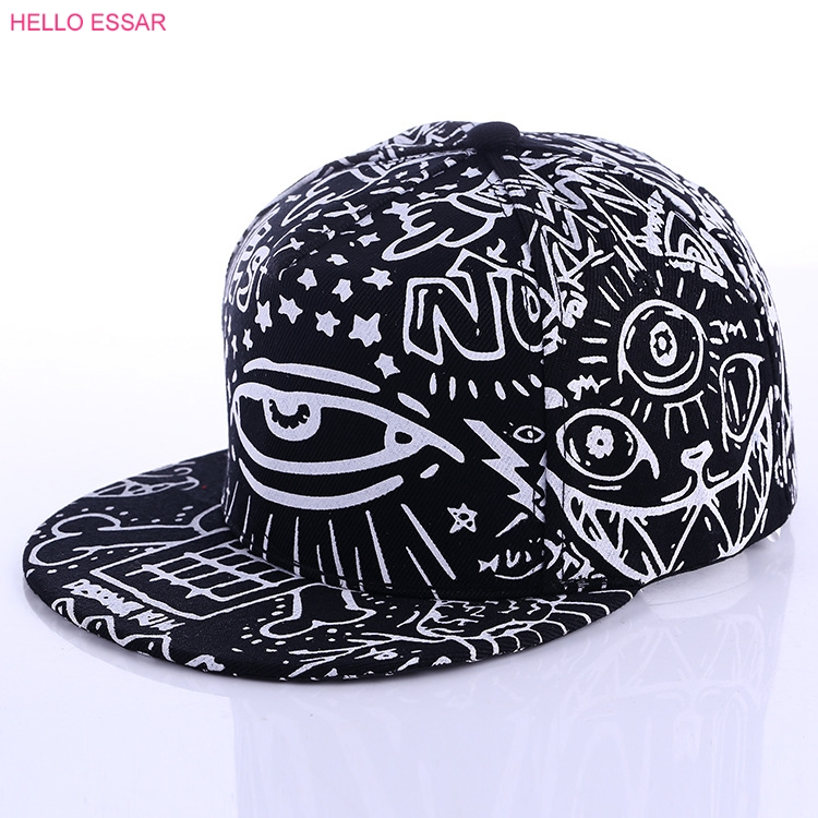 Hats New Arrival Graffiti eyes hat Hip-hop Hat fashion Vintage flat cap Baseball Cap #70014 bfdadi 2018 new arrival hat genuine