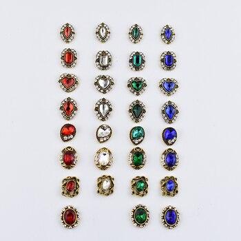 50 Pcs/Lot strass pour ongles métal goujons conseils charme cristal diamants pierre strass nail art décorations bijoux accessoires