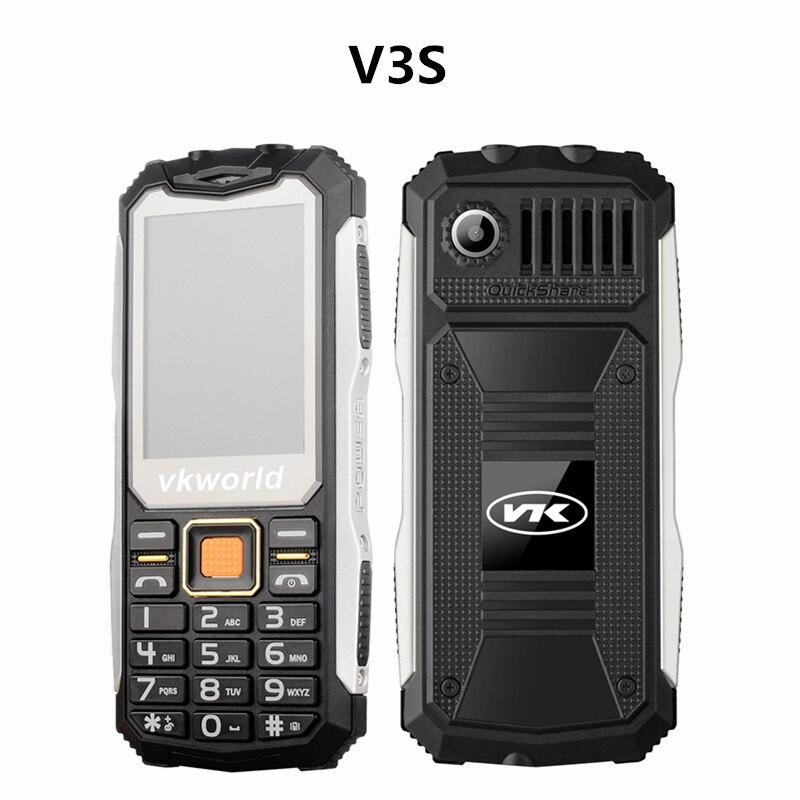 VKworld Stone V3 Plus V3 max v3S IP67 Daily Waterproof Shockproof Power Bank Long Standby Outdoor elder cellphone mobile Phone