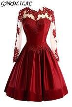 Женское атласное платье с аппликацией gardlilac Короткое бальное