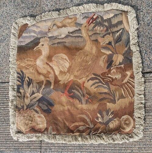 Free Shipping 18x18 Aubusson woolen Cushion Pillow,handmade pillow, no insertion