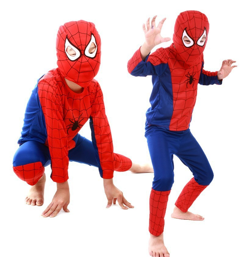 Hot Sale Girls Boys Halloween Costume Baby Kids Spiderman Superman Batman Zorro Cosplay Costume Clothes for Children