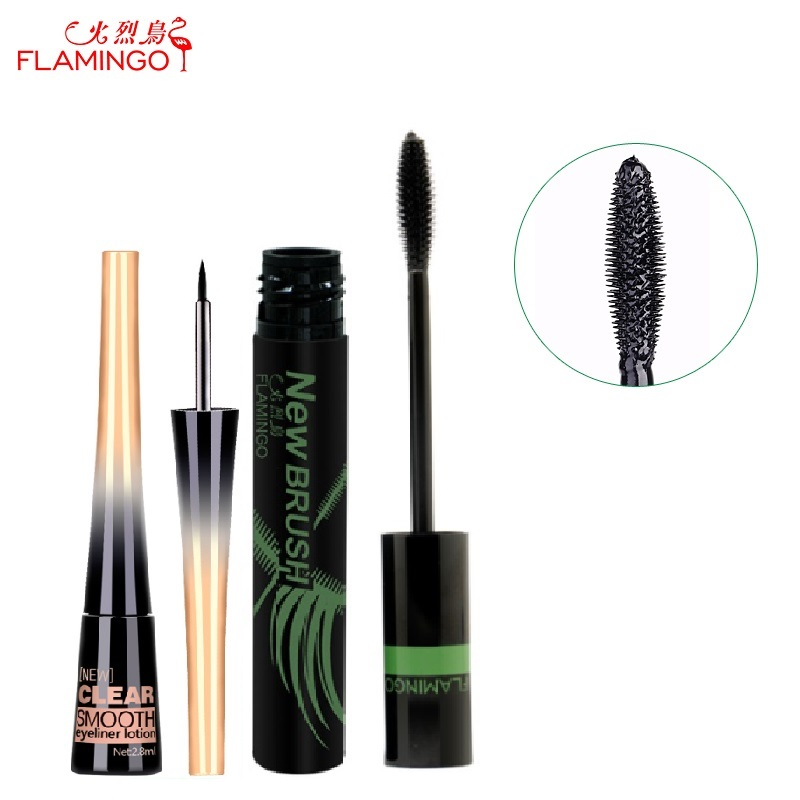 Transport gratuit din China marca de top Flamingo Nu infloreste Amazing prelungire 11ml rimel rezistent la apa 2.8ml eyeliner pentru set de pachete