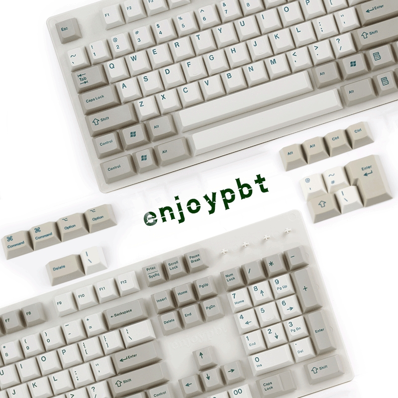 ENJOYPBT keycap 132 keys ANSI ISO KEYS dye subbed for cherry mx usb wried mechaniacl keyboard cherry profile клавиатура asus strix tactic pro cherry mx black black usb 90yh0081 b2ra00