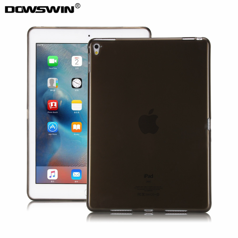 Dowswin case for ipad pro 9.7 crystal transparent for apple ipad pro 9.7 tpu back cover soft fashion solid with gift for apple ipad pro tpu soft case crystal clear transparent soft silicone back phone cover for ipad pro 12 9 inch tablet case