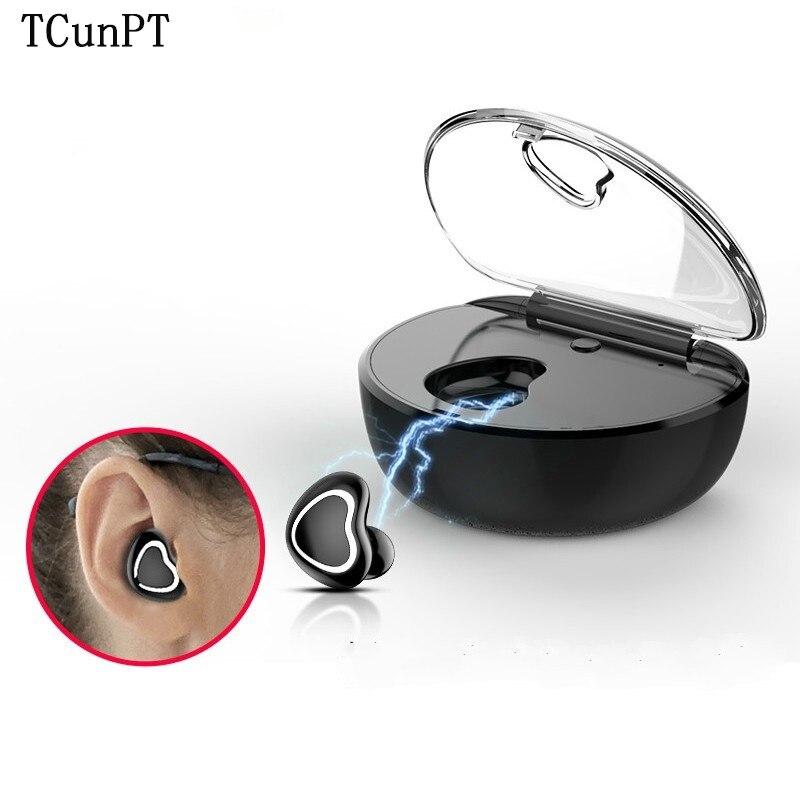 TCunPT Mini écouteur Bluetooth sans fil dans l'oreille écouteur sans fil téléphone écouteur mains libres casque stéréo casque pour téléphones