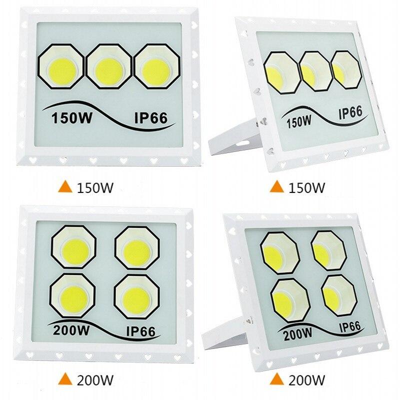 LED Flood Light 100W 150W 200W 300W 400W 85-265V IP66 Waterproof Outdoor Wall Reflector Lighting Garden Square Spotlight Lamp