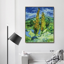 Saint Remy de poplar by Vincent Von Gogh Poster Print Canvas Painting Calligraphy Home Decor Wall Art Pictures for Living Room
