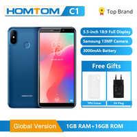 グローバルバージョン HOMTOM C1 16 ギガバイト 5.5 インチ携帯電話 13MP カメラ指紋 18:9 ディスプレイの Android 8.1 MT6580A ロック解除スマートフォン