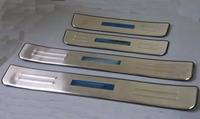 Stainless Steel LED Blue light Welcome pedal Door Sill Cover Scuff Plate Trim For KIA Sorento 2010 2011 2012