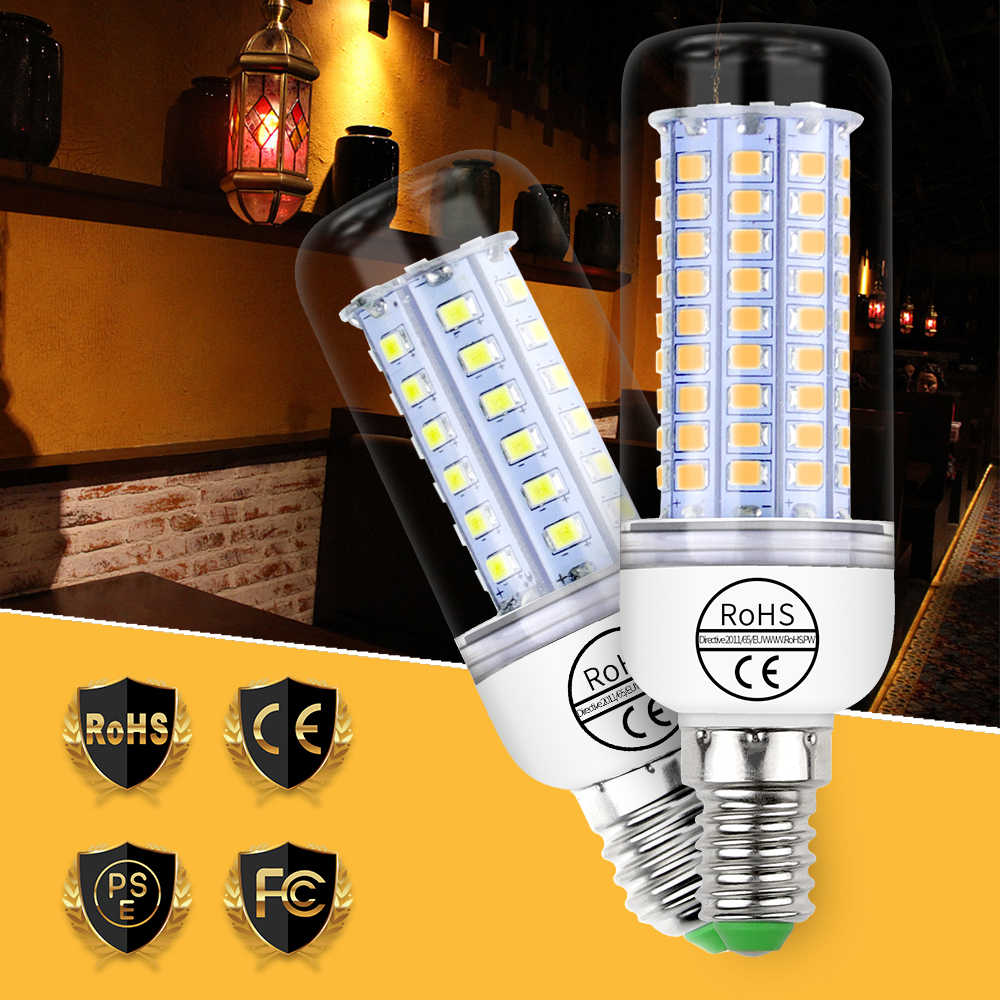 CanLing E14 bombillas led 220V Corn Light E27 LED Candle Bulb 5730 SMD 2835 Home Chandelier Lamp 240V 30 36 48 56 69 89 102LEDs