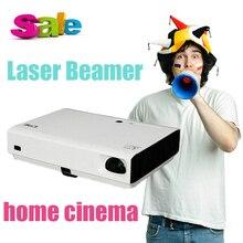 X2500 CRE Multimedia DLP Portátil Láser LED Videojuego de Cine En Casa Cine puerto RJ45 Proyector de Bolsillo Mini Proyector Móvil