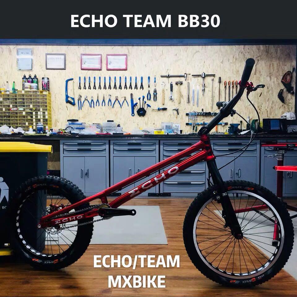 Nouvelle équipe de ECHOBIKE 20 pouces essai vélo en alliage de titane pièces en carbone fourche compétition essai KOXX Hashtagg Try-All ZHI NEON MONTY