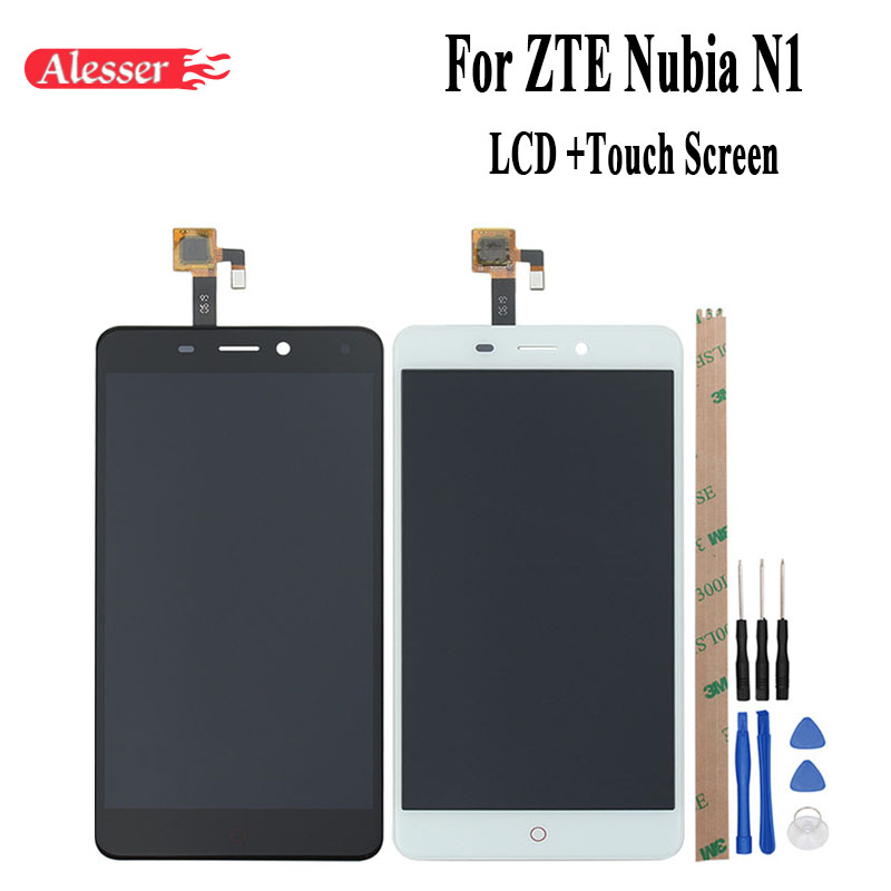 Alesser For ZTE Nubia N1 LCD Display+Touch Screen Assembly Repair Parts  5 5'' Phone Accessories+Tools For ZTE Nubia N1 NX541J