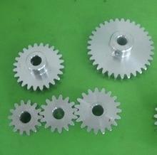 1M-24T  Outer Diameter:27mm  Inner Hole:5mm Aluminum Gear Cylindrical Spur Gear цены