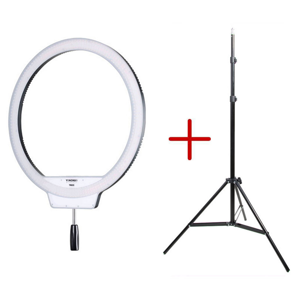 Yongnuo YN608 5500K Photographic Wireless Video Ring SMD LED Light For Portrait Macro Selfie with Handle Grip for Photo Studio