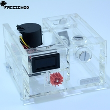 FREEZEMOD Double optical drive water cooling water tank desktop integrated notebook water pump industrial thermometer. GQSX Y1