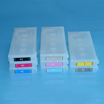 T6041 For Epson Stylus Pro 9880 refill ink cartridge +chip resetter 8 color 350ml for Epson T6041-T6047 T6049