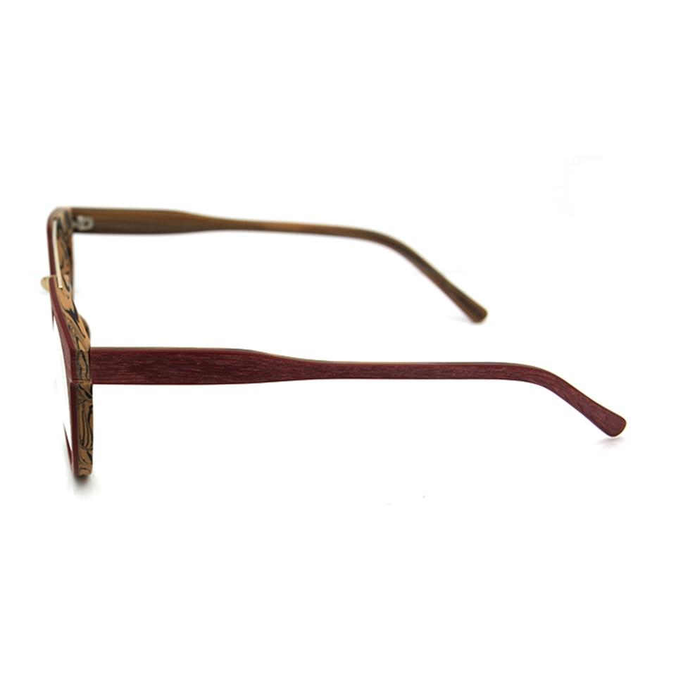 Syze syze ESNBIE Dizajn Kornizë Gratë Fake Lunettes Wood de Vue - Aksesorë veshjesh - Foto 5