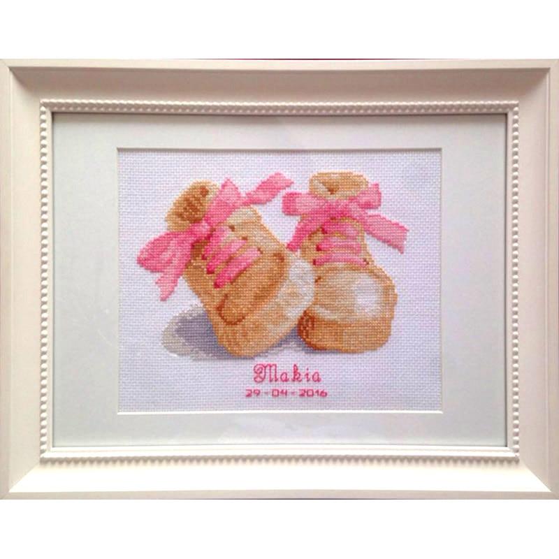 Cross Stitch / Embroidery Set Cartoon Beautiful shoes Lovely Kids Room Decoration Gift Cross Stitch set