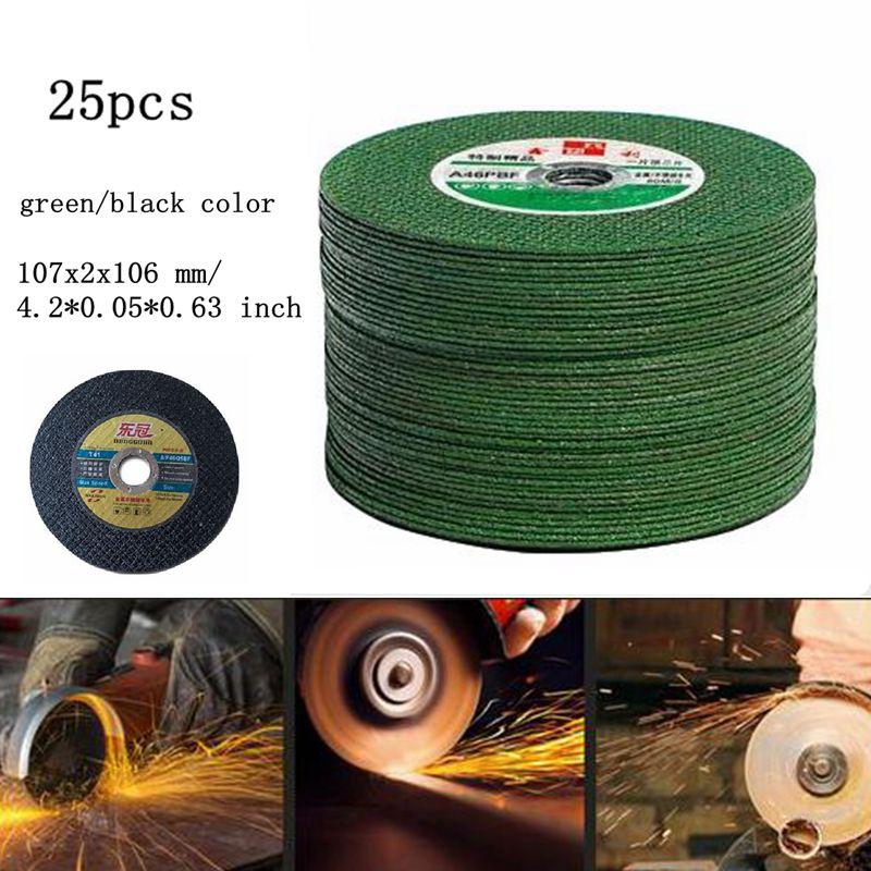 Angle Grinder Cutting Discs 107mm Resin Cutting Disc Cut Off Wheel Disc 25PCS Metal Grinding Blade Double Mesh Polishing Piece