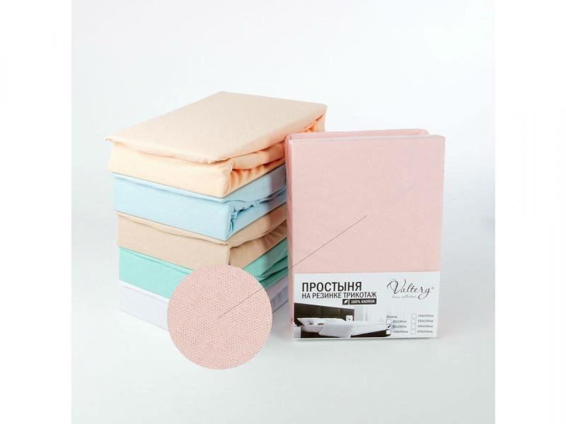 Простынь на резинке трикотажная (PT розовая) цена