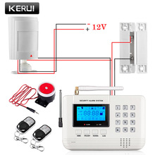 Free shipping 433MHz Wireless Wired Burglar GSM Alarm System English/ Russian /Spanish voice  Home Security Alarm