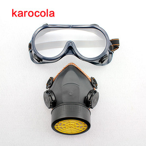 Image 4 - Half Gas Mask Respirator Organic Vapor Chemical Anti Dust Paint Industrial Dual Filters Safety Protection Mask Goggles Wholesale