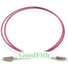 Os cabos de remendo da fibra ótica jumpers LC LC om4 simplex goodftth 1 15m