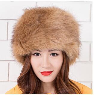 2018 Women Hats Lady Russian Tick Fluffy  Imitation Fox Fur Hat Headband Winter Earwarmer Ski Hat Female Hats For Autumn Winter Multan