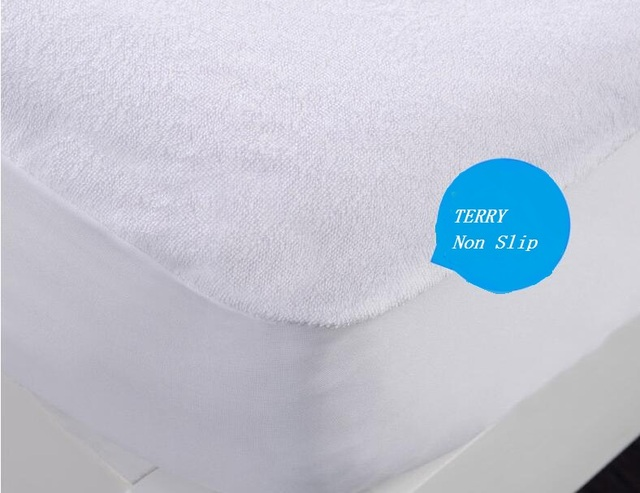 All Usa Size Terry Non Slip Mattress Protector Hypoallergenic Air Permeable Waterproof Covers