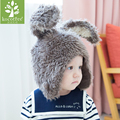 Hot Sale Children's Hats Winter Funny Rabbit Ear Cap Kids Bady Casual Woolen Hood Scarf Caps Boys Beanie Hat Gilrs Bonnet