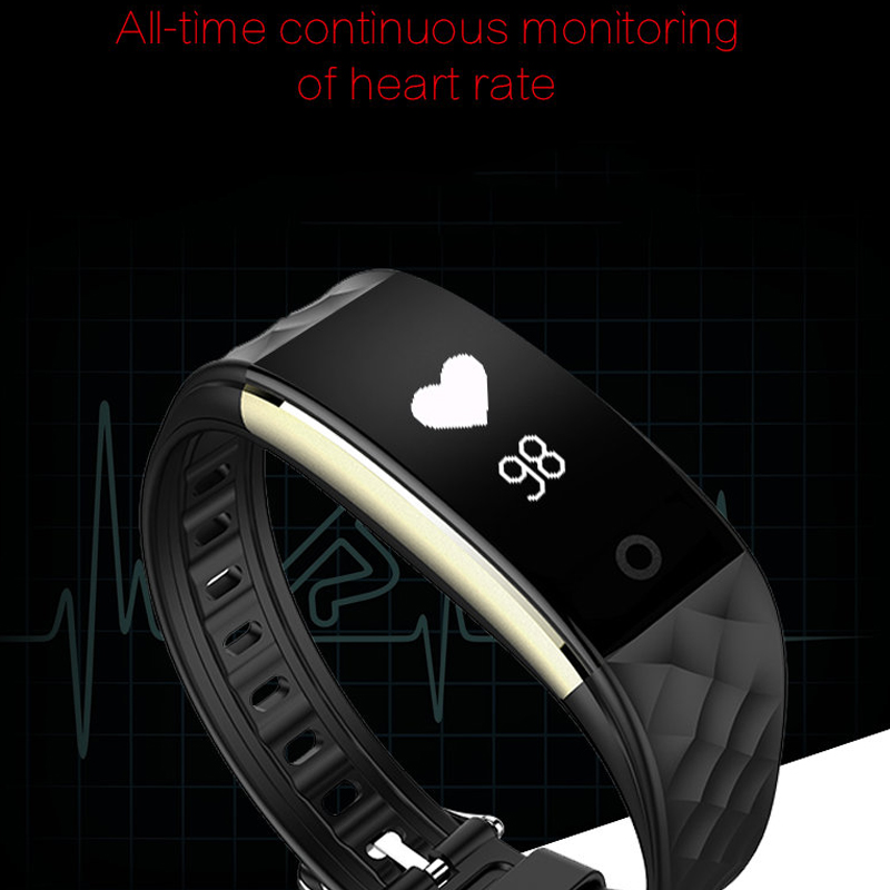 new Smart Band Smart Wristband Heart Rate Fitness Bracelet sync Call SMS Facebook whatsapp Bluetooth Smartband for ios android