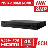 Hikvision HiLook NVR 108MH C/8P OEM 8CH POE NVR 8 Channel 4K NVR CCTV System 8MP IP Camera Video Recorder with 2TB HDD
