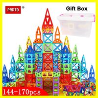 35 298PCS Magnetic Blocks Educational Construction Set Models & Building Toy Magical Magnet Designer Kids Gift
