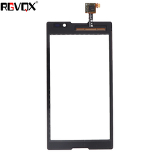 цена на New Front Panel For Sony Xperia C S39H C2304 C2305 Touch Screen Sensor Digitizer Outer Glass Repair Replacement