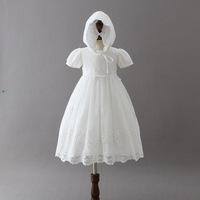 2018 White Christening Dress for Baby Girl Newborn Party and Wedding Lace Dress Long Style Baptism Dresses First Birthday Party