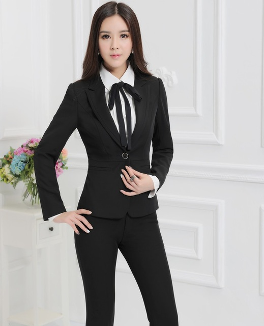 5636932840e Plus Size 4XL Formal Ladies Pant Suits Women Business Suits Blazer and  Jackets Sets Work Wear Trousers Sets Uniform Styles