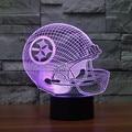 Casco de Fútbol Americano Pittsburgh Steelers Nfl Logo Colección 3d Lamparita de Luz 7 Color para el Dormitorio Infantil de Regalo de Navidad 3442