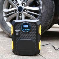 12 V Elektrische Auto Luchtcompressor Pomp Digitale Display Opblaasbare Pomp Auto Tire Inflator met LED Licht