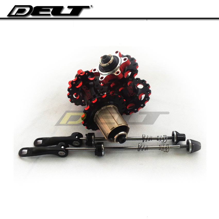 MTB Mountain  bike cycling bicycles Hup for disc brakes and quick release lever card bearing 32H aluminum cnc novatec d042sb mtb mountain bike rear hub 4 bearing disc brake 32 36 holes bicycle hubs with qr quick release