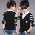 2017Hot Sale High Quality 100% Cotton Spring&Autumn Baby Boys Clothes long Sleeve Kids T-shirt Boys Striped Polo Shirt Y5-14