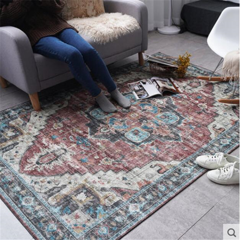 2019 New Classical Soft Carpets For Living Room Home Carpet Floor Door Mat Delicate Decor Area Rugs 200x300cm Large Carpet