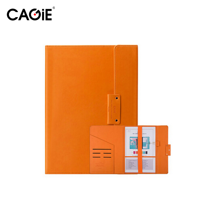 Cagie Faux Leather File Folder A4 Folders For School/office Document Organizer Colorful Office Manager Folder Creative Trends joy corner drop shipping leather business file folder a4 office organizer folder file for document portadocumenti 36 25 cm