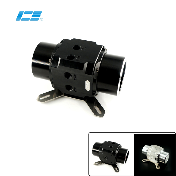 Dual D5 Pump Series EVO Modified Pump Cover Armor Compatible 12CM Fan Hole Position Transparen Black IceMan Cooler