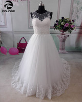 2014 New Custom Made Satin Organza Lace Applique White Ivory A Line Wedding Dress Bridal Gown