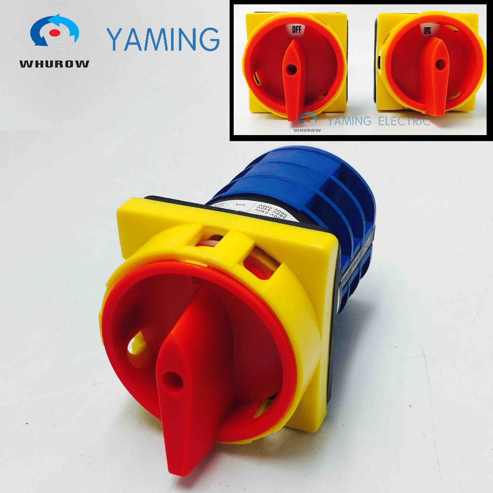 Yaming Electric LW26GS-32/04-3 Cam Switch Pad lock Selector Changeover Rotary switch OFF-ON 2 position 3 knots Power 12mm zinc alloy electronic key switch on off lock switch phone lock security power switch tubular terminals 2 keys 2 position